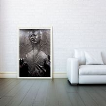 Han Solo, Han Solo Frozen in Carbonite , Star Wars, Prints & Posters,Wall Art Print, Poster Any Size - Black and White Poster